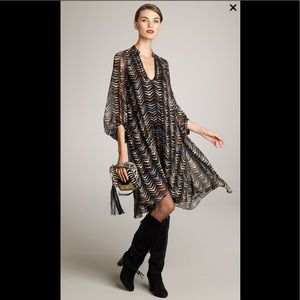 Diane von Furstenberg Kipling Chevron-Print Dress